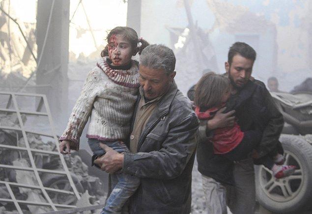 10. Suriye'de rejimin saldırıları. 📷 Qusay Nour
