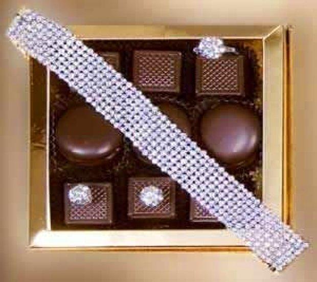 Mücevherle Kaplı Çikolata Kutusu
