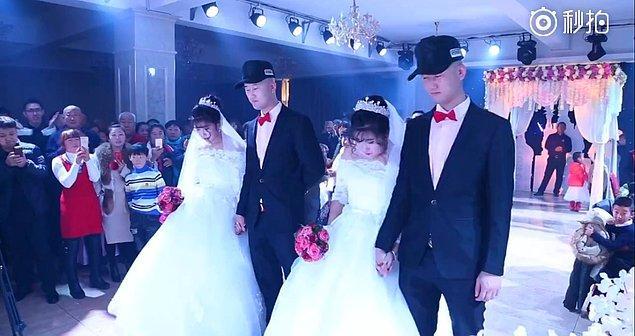 Çin, Daqing'de gerçekleşen bir düğün bütün misafirleri şok etti.