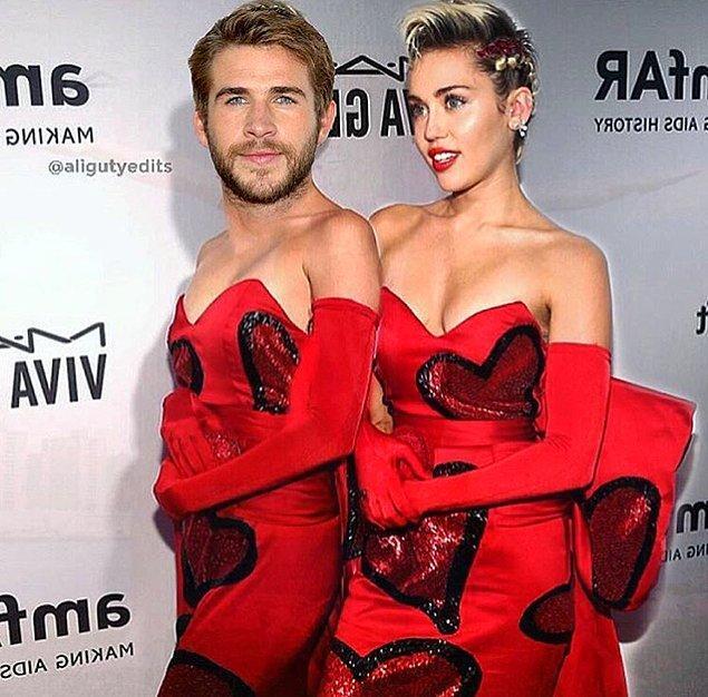15. Miley'nin Sevgililer Günü hediyesi olan bu fotoğraf:
