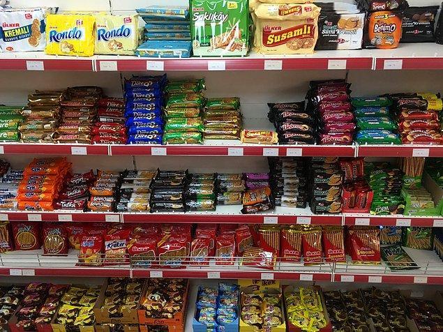 12. Ortalama bir market çikolatası ya da çubuk kraker 100.000 TL