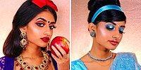 Модель решила показать как выглядели бы принцессы Диснея в индийском стиле