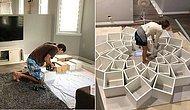 Эта пара черпает идеи дизайна книжных полок из интернета, воплощая их в жизнь в собственном доме