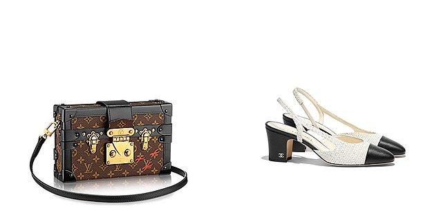 Sarah'ın elbisesi Topshop, çantası Louis Vuitton, ayakkabıları ise Chanel marka.