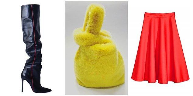 Karen'in çizmeleri Andrea Wazen, eteği H&M, peluş çantası ise; Color Temperature marka.