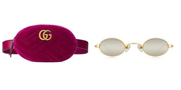 Pantolon ve bluz Selma Çilek koleksiyonundan. Bel çantası Gucci, gözlüğü ise Gold Doris marka.