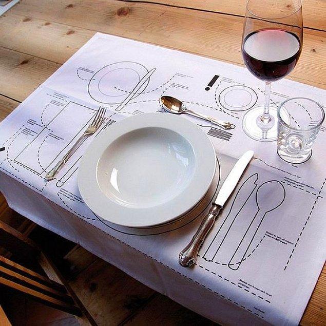 19. Şık yemeklerde neyin nereye konacağını bilmiyor musunuz? Bu yemek altlığı haritayla hepsini öğrenebilirsiniz.