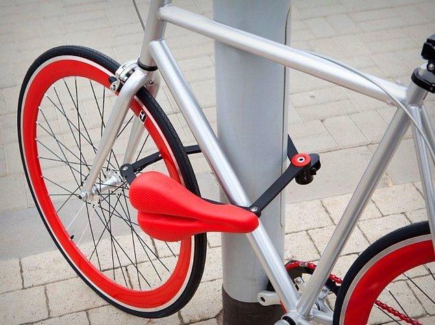 22. Bisiklet kilidi olabilen sele.