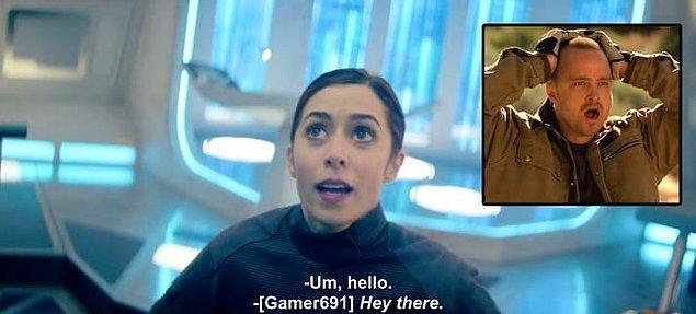 """6. Bölümün sonunda karşılaştığımız """"Gamer691"""" isimli oyuncuyu seslendiren kişi aktör Aaron Paul."""
