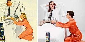 Фотограф поменял роли в сексистких рекламах 50-х, и некоторым мужчинам это не понравится