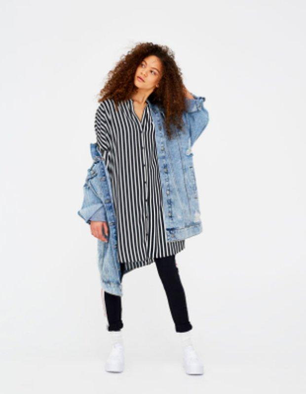 Oversize denim ceket