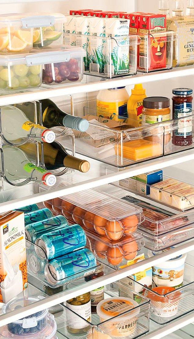 7. Plastik kutular sayesinde buzdolabınız artık daha temiz!
