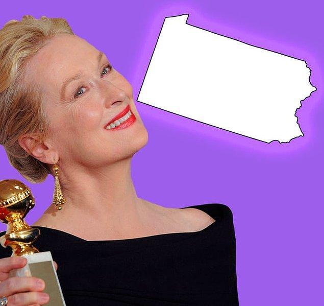 6. Meryl Streep de William Penn'in soyundan geliyor. Kendisi Pensilvanya'nın kurucusu.
