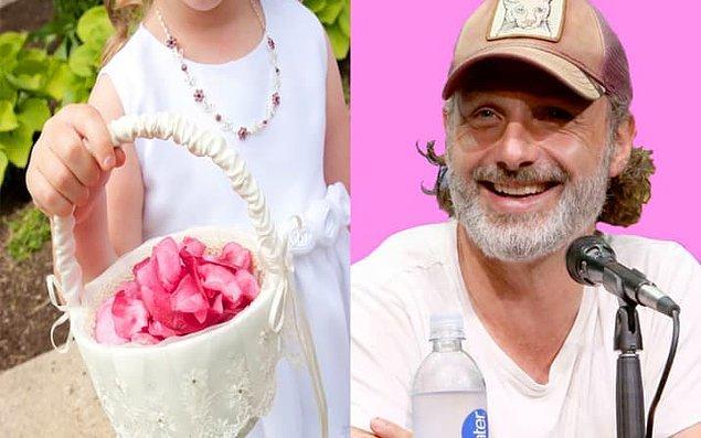 16. Gwyneth Paltrow ve Chris Martin'in kızı Apple, Andrew Lincoln'ın düğününde çiçek taşıyan kız oldu.