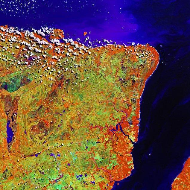 3. Brezilya'nın uzaydan görünüşü