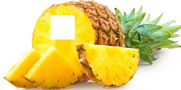 6. Bu ananasın eksik olan parçası hangisi?