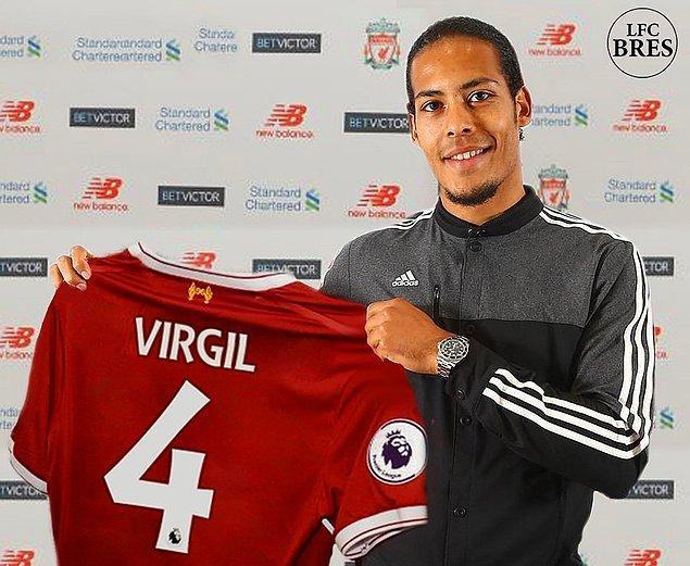 2. Virgil van Dijk: 78.8 Milyon Euro (Southampton ➡ Liverpool)