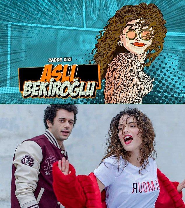 6. Dizinin kadrosunda yer alan Aslı Bekiroğlu ilk olarak Vine'da çektiği kısa videolar ile tanındı.