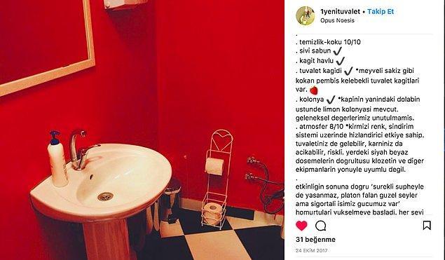 Tabii iç dekorasyon ve mimari de hesabı kullanan tuvalet gurmesi arkadaş için gayet önemli.