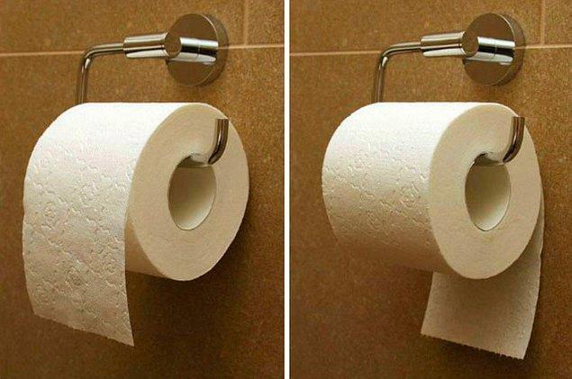1. Tuvalet kağıdı nasıl asılır? Doğru kullanım hangisi? 🚽⚔️