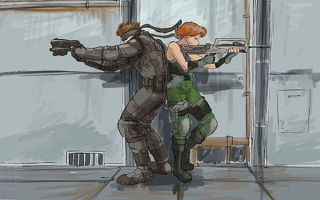 10. Solid Snake & Meryl Silverburgh