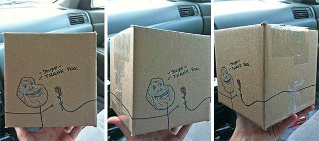 """15. """"Müşteriye yolladığım Sevgililer Günü paketi."""""""