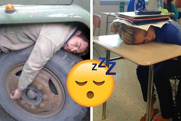 Они постигли искусство сон-фу: 16 фото людей, заснувших в самых странных позах и местах