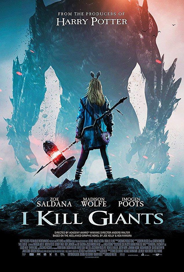 10. Harry Potter'ın yapımcılarının yeni filmi I Kill Giants'ın afişi yayınlandı.