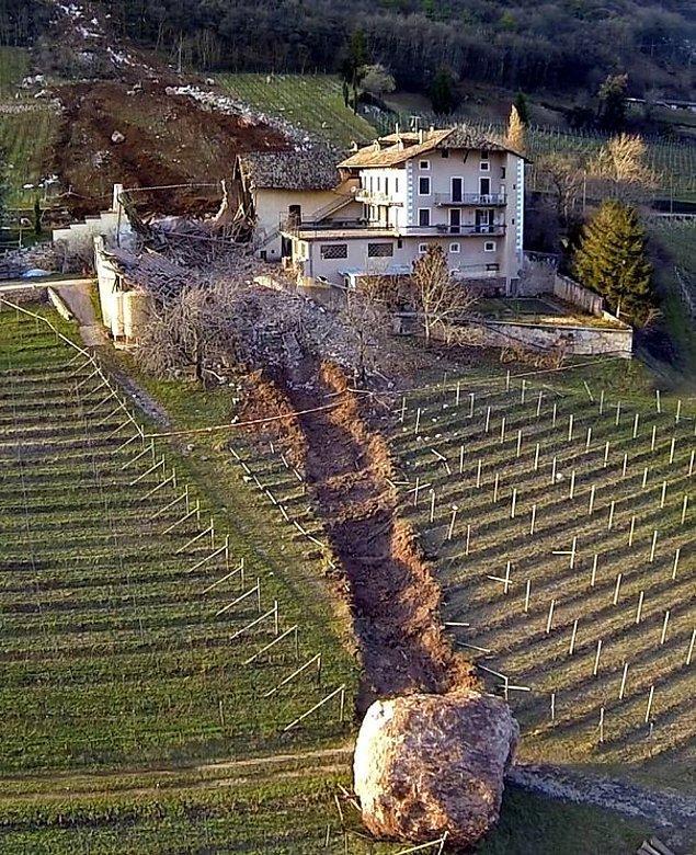 10. Kaya parçası neredeyse çiftliği yok ediyormuş.