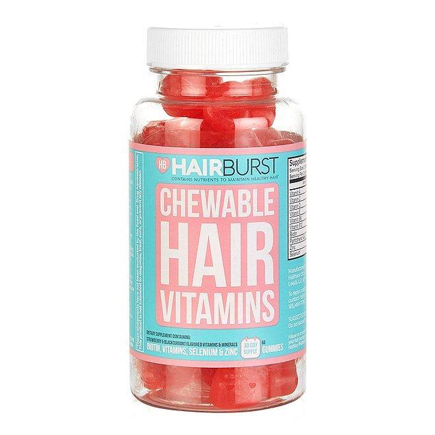 12. Hiç jelibon tadında bir şeyler yiyip saçlarınızı inanılmaz şekilde Biotin vitaminiyle besleyip uzamasını ve parlamasını sağlamış mıydınız?