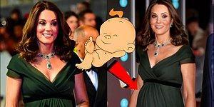 Королевский животик: Беременная Кейт Миддлтон покорила всех на красной дорожке вручения премии BAFTA