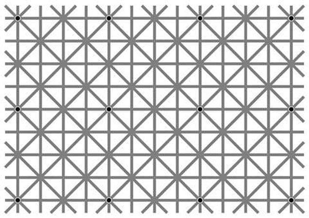 8. Ne kadar denersen dene; bu resimdeki 12 noktayı aynı anda göremeyeceksin!