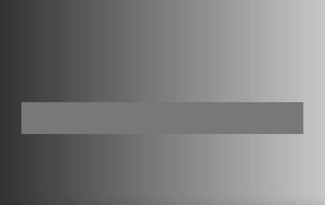 15. Bu gri dikdörtgen ton değiştirmiyor! Her yeri aynı renk: