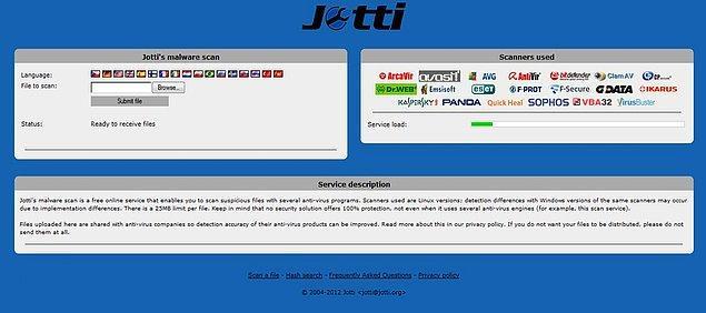 9. Virusscan.jotti.org
