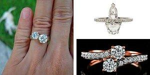 Для предложения кольца с одним камнем теперь недостаточно! В моде кольца с двойными камнями