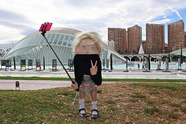 Valencia; Selfie Çubuğu