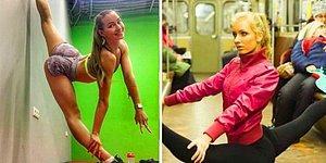 Волочкова нервно курит в туалете: 23 фото, на которых славянские девушки поражают своей растяжкой