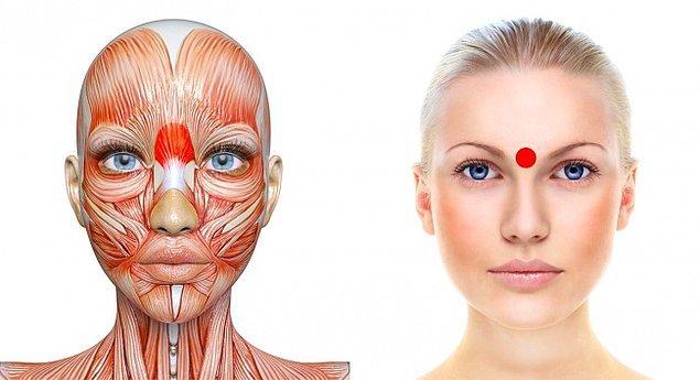 3. Kaşlarınız arasındaki nokta: