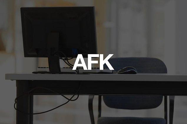 Away From Keyboard /  Klavyeden uzakta