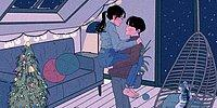 Художник из Кореи показал, как выглядят сокровенные моменты в жизни любящей пары