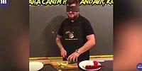 Как он это делает? Повар из Турции с завязанными глазами нарезает овощи с невероятной скоростью