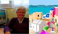Paint Programıyla Ressamlara Taş Çıkaran 87 Yaşındaki Süper Babaanne