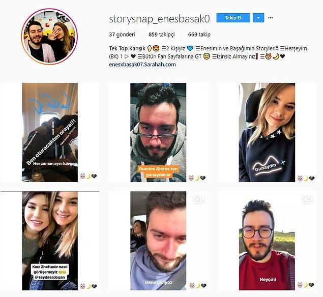 Story Snap Enes ve Başak
