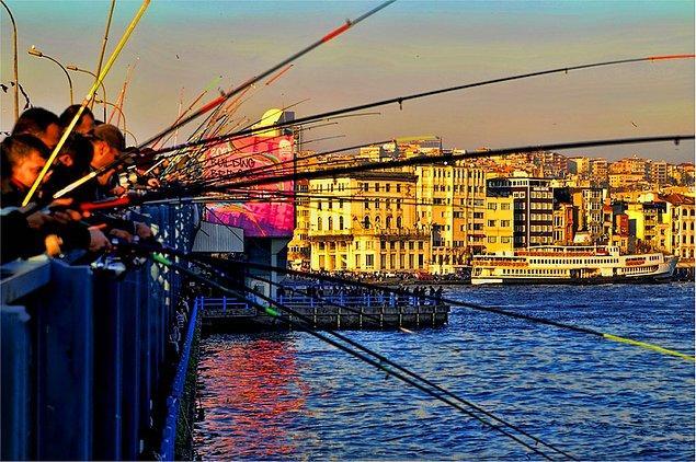 12. Galata Köprüsü Balıkçılar