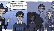 5 сцен из «Гарри Поттера», не вошедших в фильмы, в шикарных комиксах фанатки