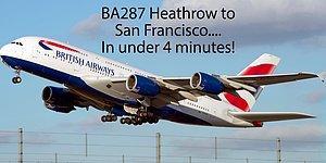 Пилот решил показать, как выглядит 11-часовой перелёт из Лондона в Сан-Франциско