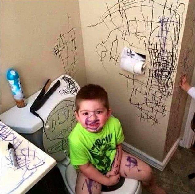 7. Bu ufaklık ise resmen yaptıklarıyla gurur duyuyor, suratına baksanıza!