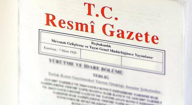 Bakanlar Kurulu'nun vergi oranlarındaki kararı bugün Resmi Gazete'de yayınlandı.