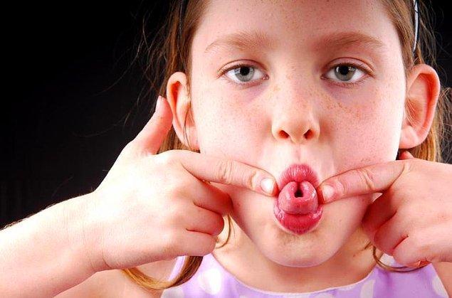2. Dilini bu şekilde yuvarlayabiliyor musun?
