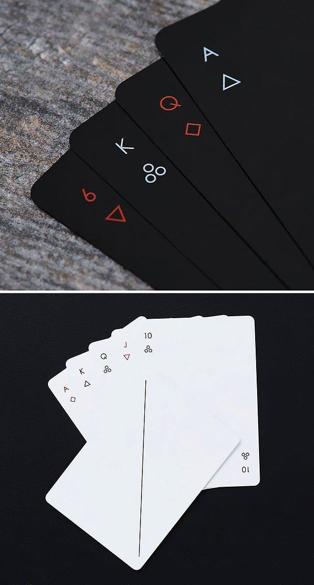 17. Minimalist ve çok şık oyun kartları. ♠️♦️♣️♥️